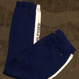 Tommy Hilfiger Blue White Lounge Pants Sweatpants